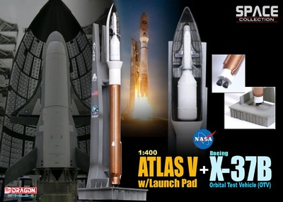 Atlas V w/Launch Pad + X-37B Orbital Test Vehicle (OTV), 2010, 1:400, Dragon Space Collection