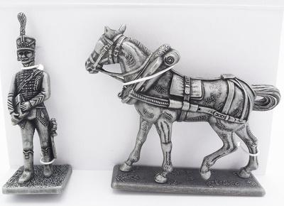 Ayudante del Mariscal Joachim Murat, Caballo Porta Equipajes de Napoleón, 1:24, Atlas Editions
