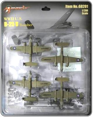 B-25 Mitchell (4 unidades), Raid de Doolittle, Japón, 1942, 1:200, Merit