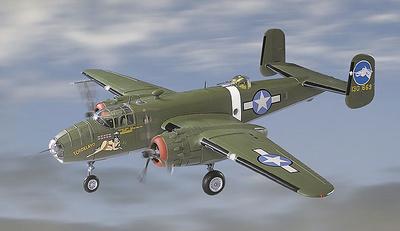 """B-25D Mitchell, U.S.A.A.F. 500 BS, 345 BG  """"Tondelayo"""", 1:48, Franklin Mint"""
