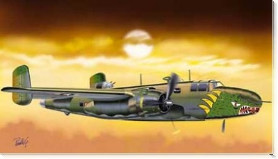B-25D Mitchell Green Dragon USAAF,1:48