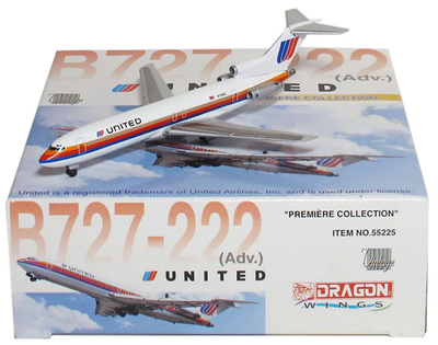 B727-222 (Adv.) United Airlines, 1:400, Dragon Wings