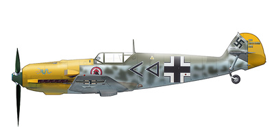 """BF 109E-4 """"Hans Von Hahn"""" I./JG3, Grandvillers, Francia, 1940, 1:48, Hobby Master"""