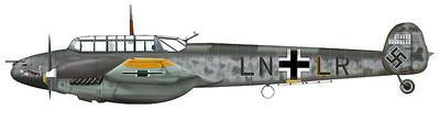 BF 110E 1. (Z)/JG 77 Lt. Felix-Maria Brandis Malmi, Finland 1942, 1:72, Hobby Master