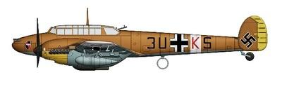 BF 110E-2/Trop 3U+KS, 8./ZG 26, North Africa, 1941, 1:72, Hobby Master