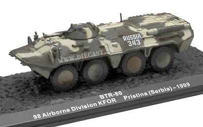 BTR-80, KFOR, 98 Airbone Division, Pristina (Serbia), 1999, 1:72, Altaya