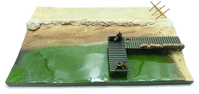 """Base for diorama, """"Counterattack in Malinava"""", North of Lithuania. July, 1944, 1:72, PMA"""