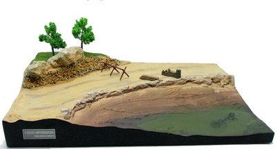 "Base for diorama, ""Counterattack in Malinava"", North of Lithuania. July, 1944, 1:72, PMA"