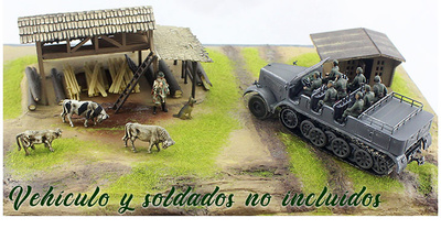"Base para diorama, ""Contraataque en Malinava"", Norte de Lituania. Julio, 1944, 1:72, PMA"