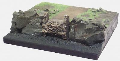 Base plana con camino, en plástico, para pintar, 1:72, Mark Model