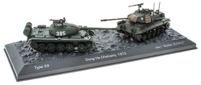 Battle of Dong Ha (Vietnam), Type 59 + M41 Walker Bulldog, 1972, 1/72, Salvat