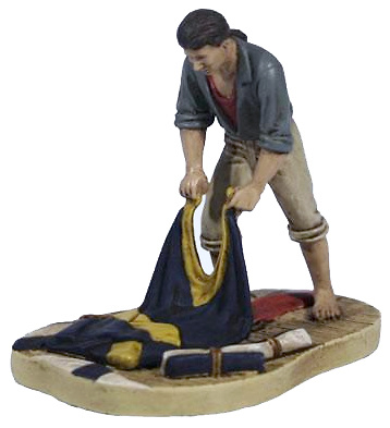 Battle of Trafalgar RN Rating Signaller with Flags, 1:32, Corgi