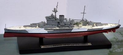 Battleship HMS Warspite, Royal Navy, 1915-1945, 1: 1250, Atlas