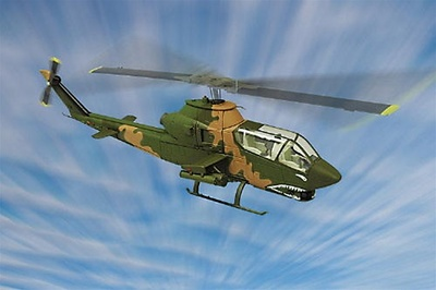 Bell AH-1J Cobra Attack Helicopter, US Army, 1:48, Franklin Mint