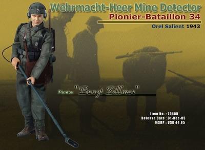 """""""Bengt Zillmer"""", Detector de Minas de las Fuerzas Terrestres de la Wehrmacht, Pionier-Batallion 34, Orel Salient, 1943, 1/6, Dragon Figures"""