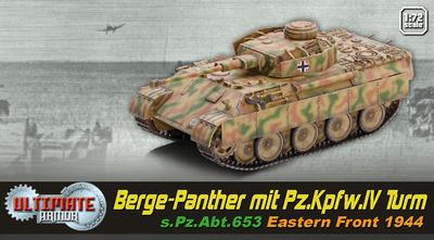 Berge-Panther mit Pz.Kpfw.IV Turm. sPz.Abt.653, Rusia 1944, 1:72, Dragon Armor
