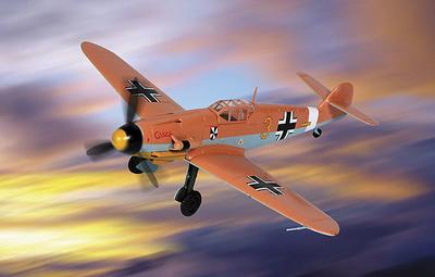 """Bf-109 MESSERSCHMITT LUFTWAFFE VI./JG.3, """"Yellow 3"""", 1:48, Franklin Mint"""