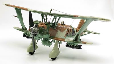 Biplano Henschel Hs 123A, Legión Cóndor, Guerra Civil Española, 1937, 1:72, Planeta de Agostini
