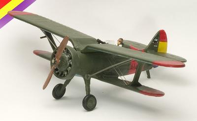 "Biplano Polikarpov I-15 ""Chato"", Guerra Civil Española, 1:72, Planeta de Agostini"