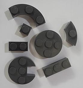 Bolsas medio kilo piezas color gris, Exin Castillos