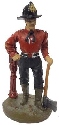 Bombero con traje, Nueva York, 1840, 1:30, Del Prado