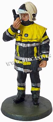 Bombero con traje de alta visibilidad, Francia, 2005, 1:30, Del Prado