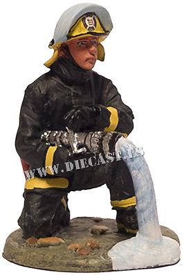 Bombero con traje ignífugo, Punta Arenas, Chile, 1995, 1:30, Del Prado