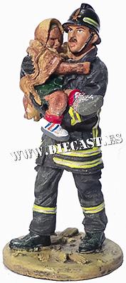 Bombero con traje ignífugo, San Giuliano, Italia, 2003, 1:30, Del Prado