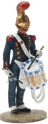 Bombero músico con tambor, Francia, 1850, 1:30, Del Prado