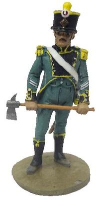 Bombero marino con traje ceremonial, Venecia, Italia, 1812, 1:30, Del Prado