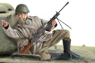 """Boris"", (Sargento) Red Army LMG Gunner, Ukrainian Front 1943-44, 1:6, Dragon Figures"