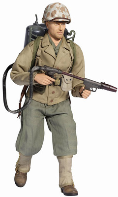 Brad Mason, (Private First Class), USMC Lanzallamas, Okinawa 1945, 1:6, Dragon Figures