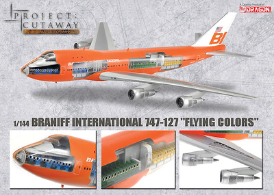 "Braniff International 747-127 ""Flying Colors"", 1:144, Dragon Wings"
