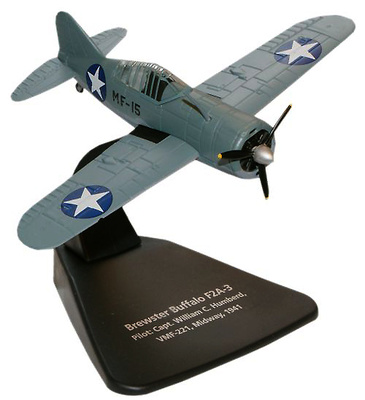 Brewster Buffalo F2A 3, Capitán William C. Humberd, VMF221, Midway, 1941, 1:72, Oxford