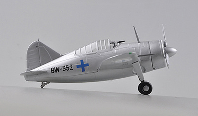 Brewster F2A Buffalo, AF,BW-352, Finlandia, 1941, 1:72, Easy Model