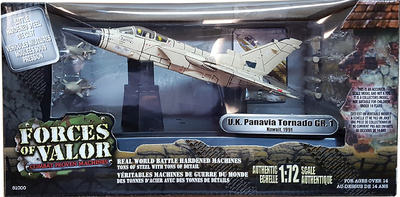 British Panavia Tornado GR.1 Strike Aircraft, Kuwait, 1991, 1:72, Forces of Valor