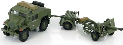 British Quad Gun Tractor w/25 pdr. gun Gold Beach D-Day Plus 2 , 1:72, Hobby Master