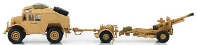 British Quad Gun Tractor with 25 pdr. gun 50th Northumbrian Infantry Div., 1:72, Hobby Master
