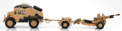 British Quad Gun Tractor with 25 pdr. gun 5th Infantry Division, 1:72, Hobby Master