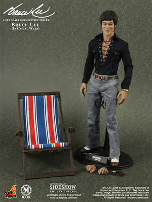 Bruce Lee Movie Icon figura 70s Casual Wear Version, 1:6, Hot Toys