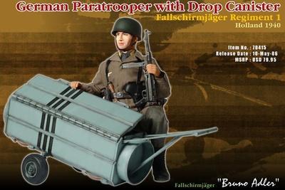 """Bruno Adler"", Paracaidista Alemán, Regimiento Fallschirmjager 1, Holanda, 1940, 1:6, Dragon Figures"