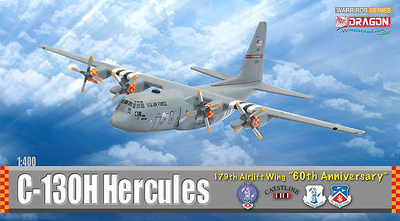 "C-130H Hercules, 179th Airlift Wing ""60th Anniversary"", 1:400, Dragon Wings"