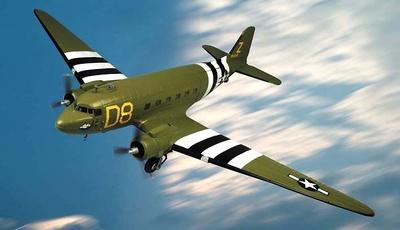 C-47 A USAAF The Argonia, Gooney Bird, 1:48, Franklin Mint