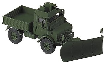 CAMION UNIMOG U1200L+PFLUG+MSA, 1:87, Minitanks