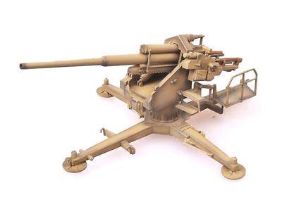 Cañón 128 mm. Flak 40 con soporte en cruz, Alemania, 1944, 1:72, Modelcollect
