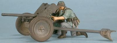 Cañón 37mm. Pak 36 con dos soldados alemanes, 1:48, Gasoline