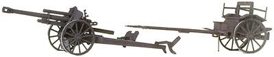Cañón Howitzer 10,5 cm. leFH 18 M, 1939-45, 1:87, Preiser