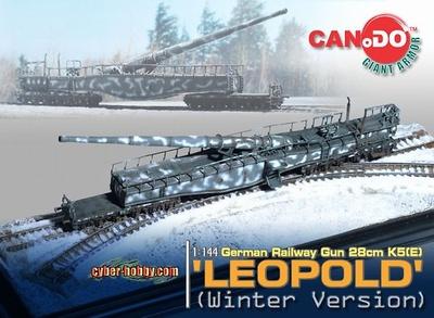 "Cañón alemán ""Leopold"" 28 cm, sobre vías, colores de invierno, 1:144, Can.Do"