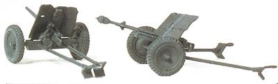 Cañón anti carro 3,7 cm. PAK L/45, (2 piezas) Alemania 1939-45, 1:87, Preiser