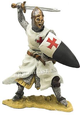 Caballero Templario al ataque con espada, 1:32, Hobby & Work